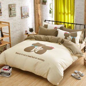 cat love bedding set queen size
