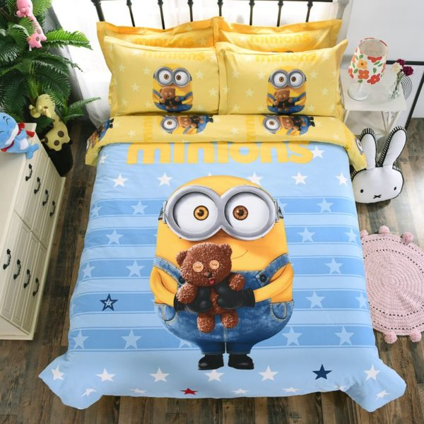 Minion Queen Size Bedding Set (1)