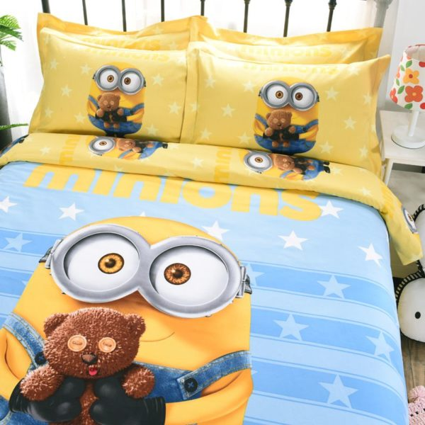 Minion Queen Size Bedding Set 4 600x600 - Minion Queen Size Bedding Set