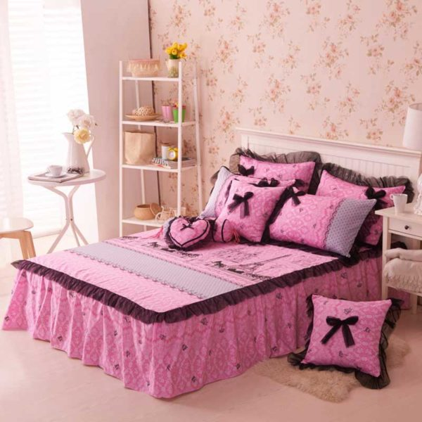 Paris Themed Bedding Set 1 600x600 - Paris Themed Bedding Set Queen and Twin Size