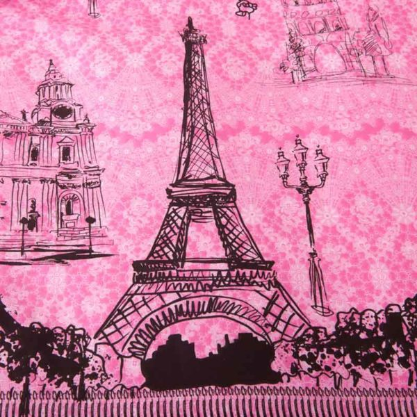 Paris Themed Bedding Set 2 600x600 - Paris Themed Bedding Set Queen and Twin Size