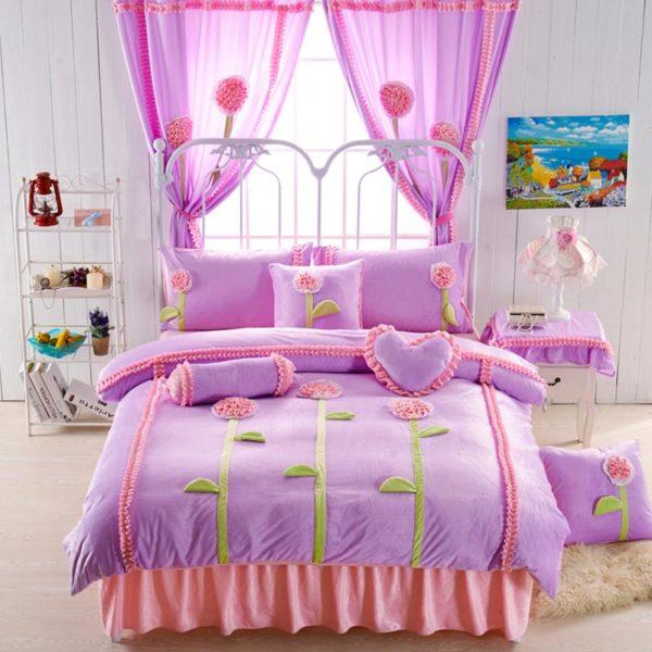 Teen Girl Bedding Set 1 600x600 - Teen Girl Bedding Set Velvet Fabric