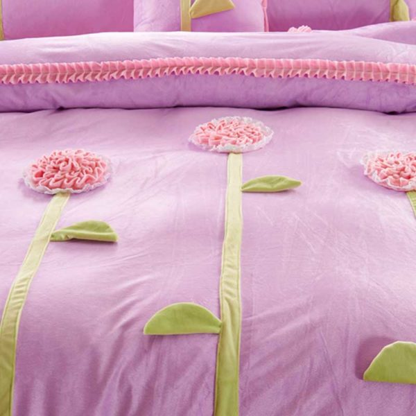 Teen Girl Bedding Set 2 600x600 - Teen Girl Bedding Set Velvet Fabric