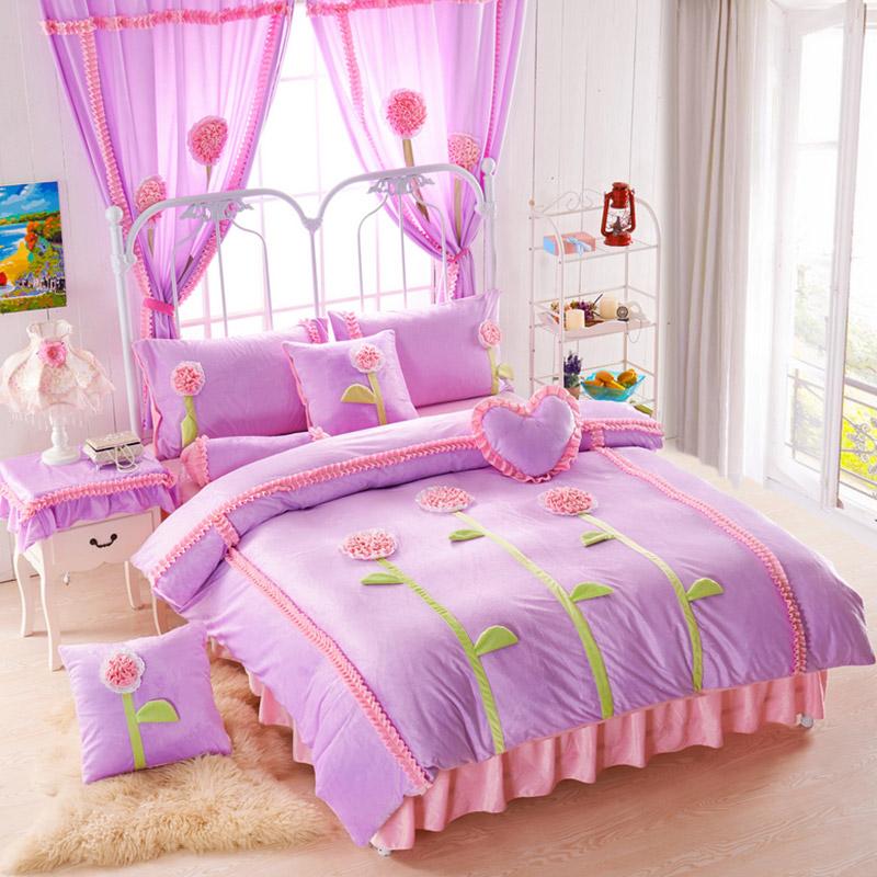 appealing teen girls bedroom bedding sets | Teen Girl Bedding Set Velvet Fabric | EBeddingSets