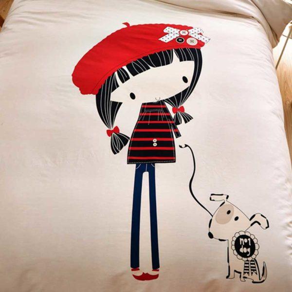 little cute girl bedding set queen size 3