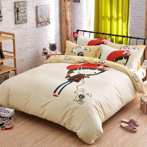 little cute girl bedding set queen size