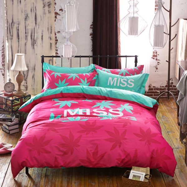 marijuana bedding 2 600x600 - miss marijuana bedding set queen size