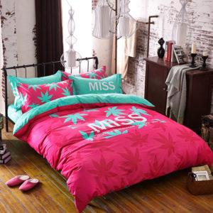 miss marijuana bedding set queen size