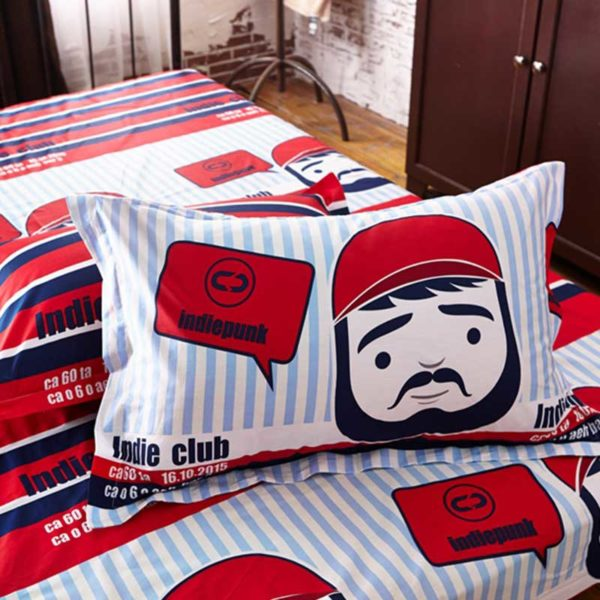 mustache bedding set 3 600x600 - Mustache Bedding Set Queen Size