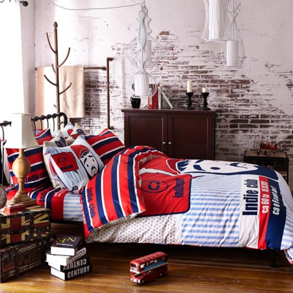 mustache bedding set 5 600x600 - Mustache Bedding Set Queen Size