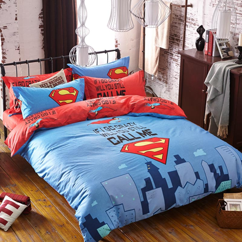 Merveilleux Superman Bedding Set Queen Size