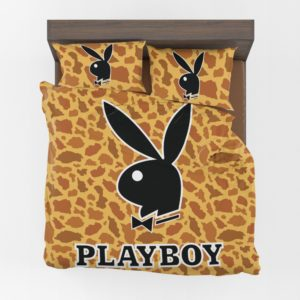 Playboy leopard print bedding Set