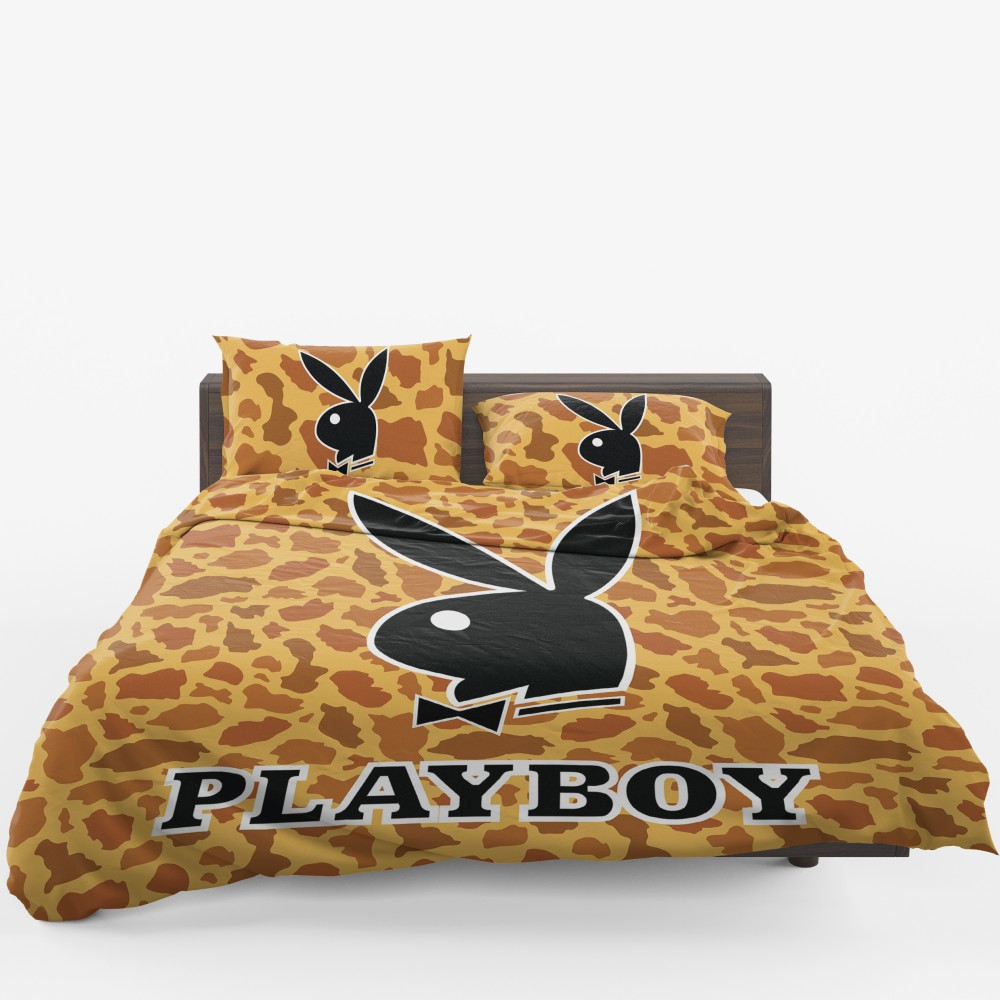 Playboy Leopard Print Bedding Set Twin Full Queen King Comforter Set