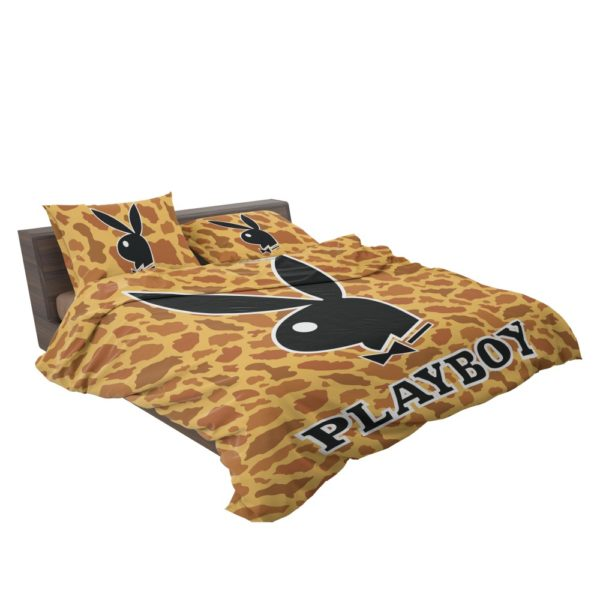 Playboy leopard print bedding Set bed in bag