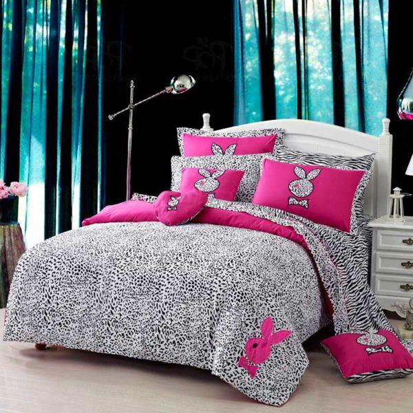 playboy leopard print bedding 1 600x600 - Playboy leopard print bedding Set