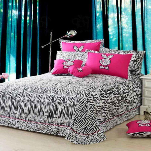 playboy leopard print bedding 2 600x600 - Playboy leopard print bedding Set