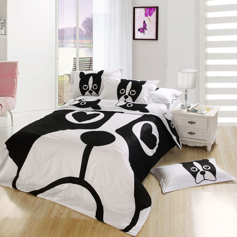 Dog Print Bedding Set Twin Queen And King Size .