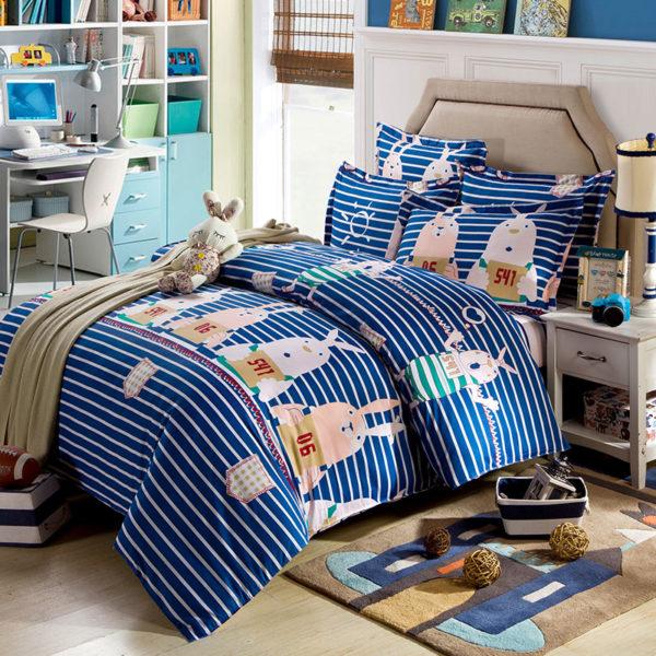 Adorable Pig Motif Cotton Bedding Set 1 600x600 - Adorable Pig Motif Cotton  Bedding Set