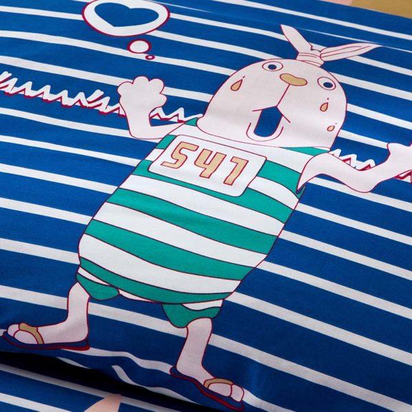 Adorable Pig Motif Cotton Bedding Set 4 600x600 - Adorable Pig Motif Cotton  Bedding Set