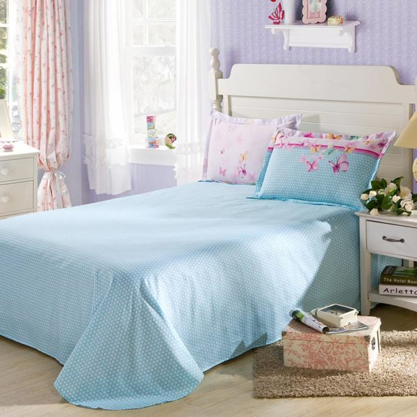 Amazing Light Blue Butterfly Theme Cotton Bedding Set 3 600x600 - Amazing Light Blue Butterfly Theme  Cotton  Bedding Set