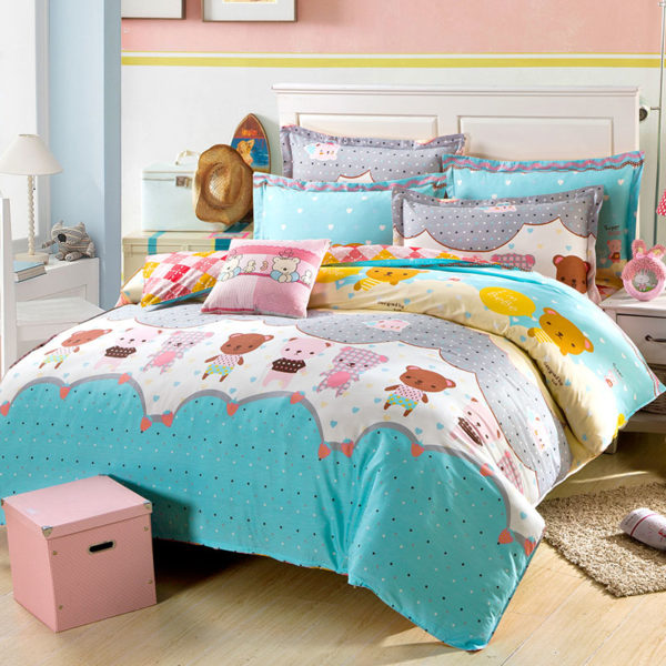 Amazing Teddy Bears Cotton Bedding Set 1