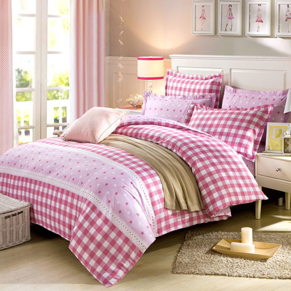 Appealing Checks And Stars Cotton Bedding Set 1 600x600 - Appealing Checks And Stars Cotton Bedding Set