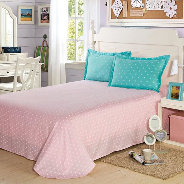 Attractive Turquoise And Pinks Cotton Bedding Set 3 600x600 - Attractive Turquoise And Pinks Cotton  Bedding Set