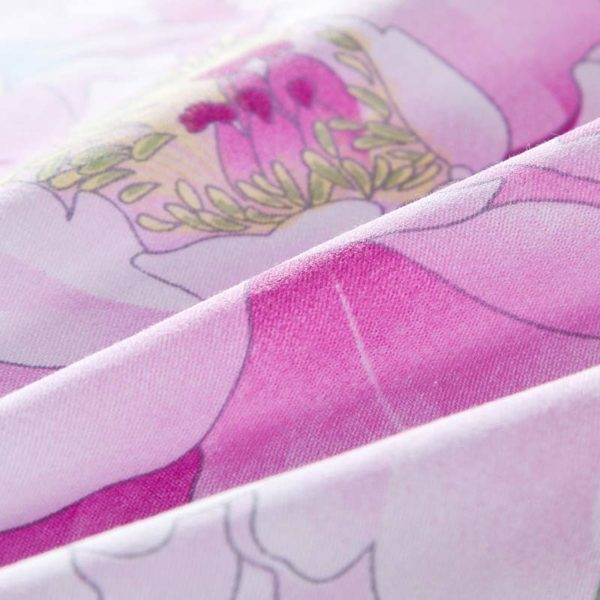 Awesome Cotton Bedding Set in Blue And Pink 4