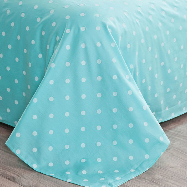 Baby Pink and light Blue Dotted Cotton Bedding Set 2