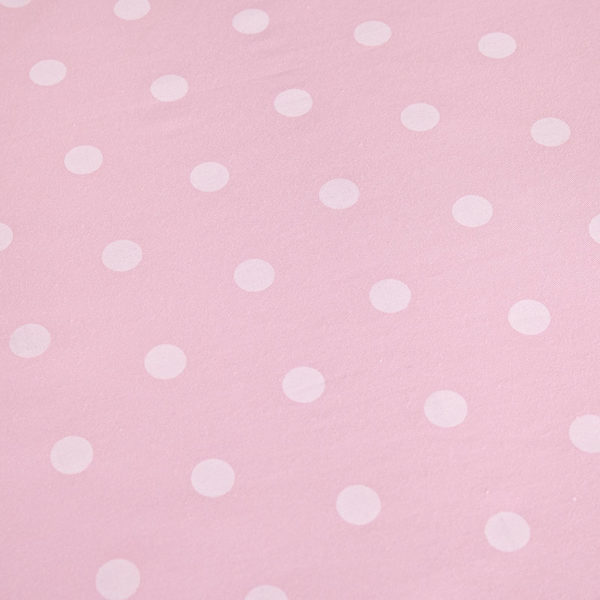 Baby Pink and light Blue Dotted Cotton Bedding Set 3