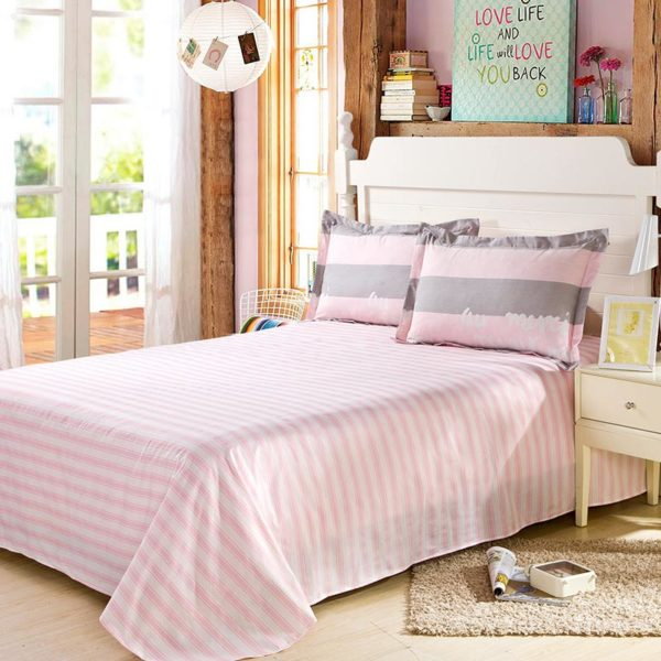 Beautiful Dull Grey And Pink Cotton Bedding Set 3 600x600 - Beautiful Dull Grey And Pink Cotton  Bedding Set