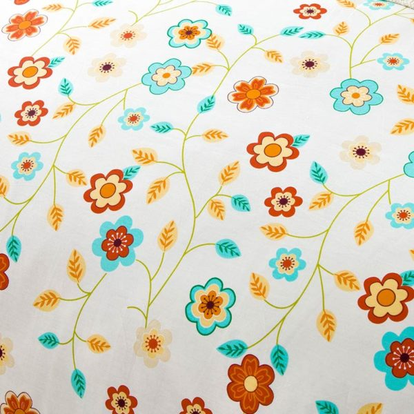 Beautiful Floral Cotton Bedding Set 3 600x600 - Beautiful Floral Cotton Bedding Set