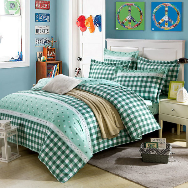 Bewitching Bottle Green Stars Cotton Bedding set 1 600x600 - Bewitching Bottle Green Stars Cotton Bedding set