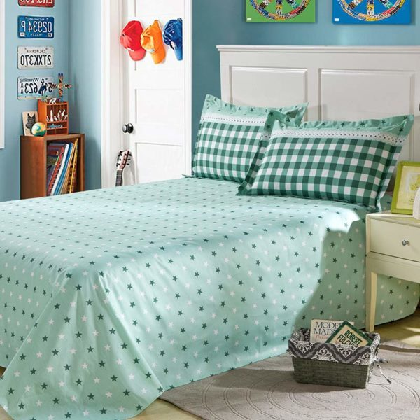 Bewitching Bottle Green Stars Cotton Bedding set 4 600x600 - Bewitching Bottle Green Stars Cotton Bedding set