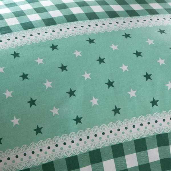 Bewitching Bottle Green Stars Cotton Bedding set 5 600x600 - Bewitching Bottle Green Stars Cotton Bedding set