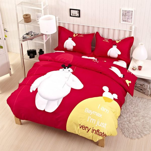 Big Hero Red Elegant Comforter Set