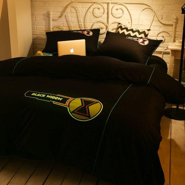 Black Widow Bedding Set Queen Size Bed Set 5