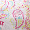 Bright Pink and White Paisley Cotton Bedding Set 2