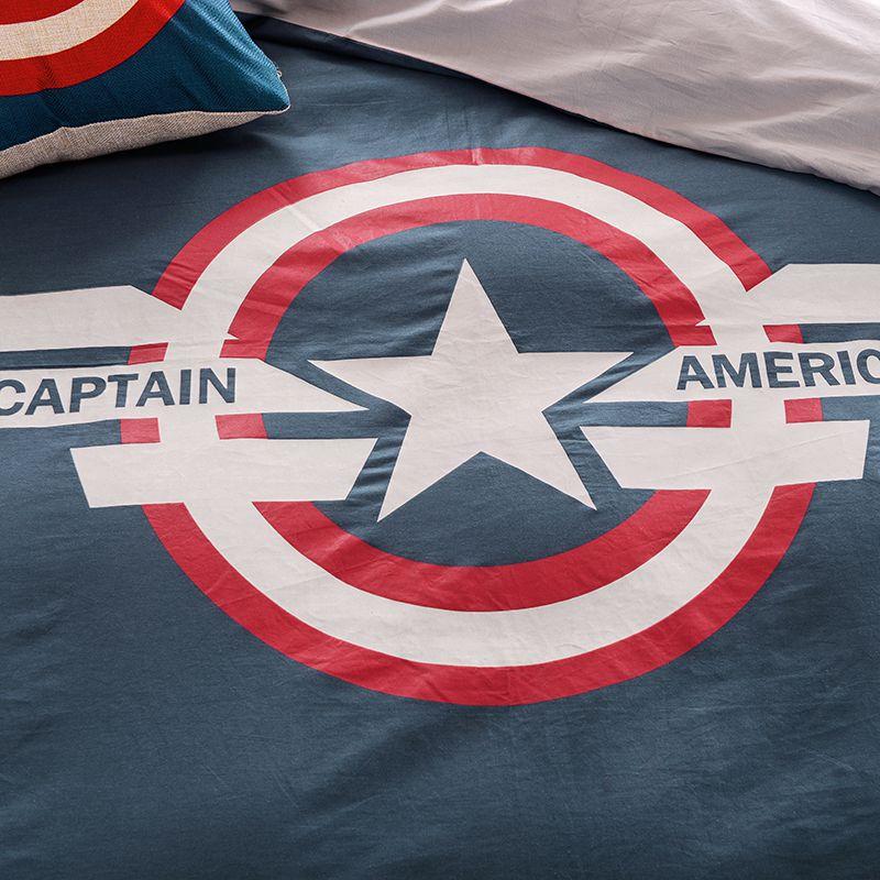 Captain America Bedding Set Queen Size Comforter