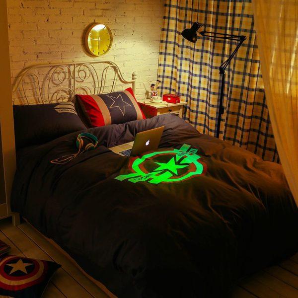 Captain America Bedding Set Queen Size For Teen Boys Bedroom Decor 4