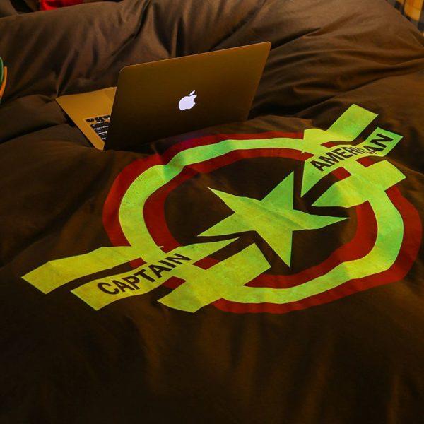 Captain America Bedding Set Queen Size For Teen Boys Bedroom Decor 7