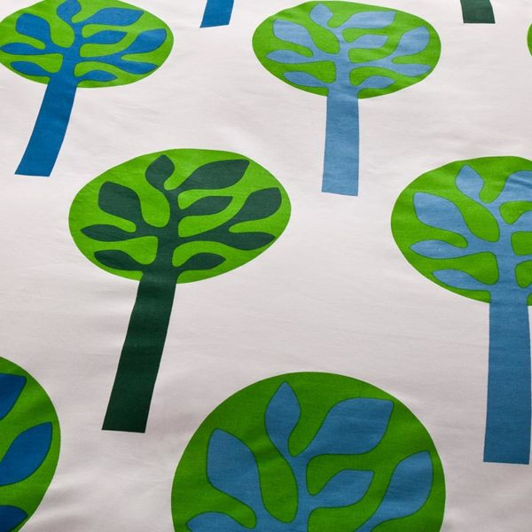 Charming Blue and Green Cotton  Bedding Set