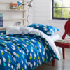 Charming Blue and white Aquatic themed Cotton  Bedding Set
