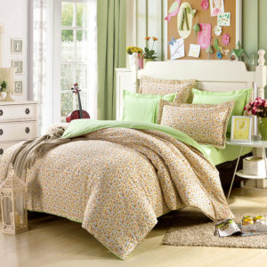 Chic White And Light Green Cotton Bedding Set 1 300x300 - Chic White And Light Green Cotton  Bedding Set