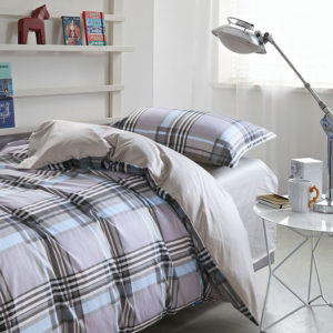 Classic Gray Checkered Cotton Bedding Set 1 300x300 - Classic Gray Checkered Cotton  Bedding Set