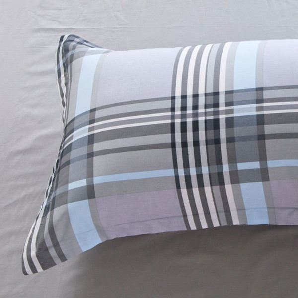 Classic Gray Checkered Cotton Bedding Set 3 600x600 - Classic Gray Checkered Cotton  Bedding Set
