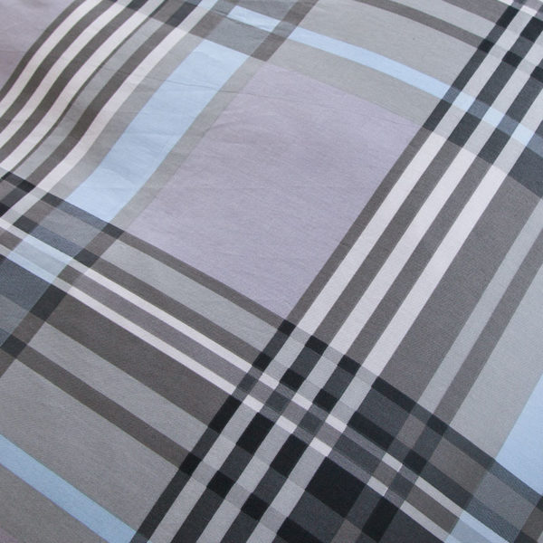 Classic Gray Checkered Cotton Bedding Set 5 600x600 - Classic Gray Checkered Cotton  Bedding Set