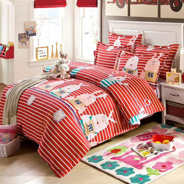 Colorful Blue And Red Pg Themed Cotton Bedding Set 1 600x600 - Colorful Blue And Red Pg Themed Cotton  Bedding Set