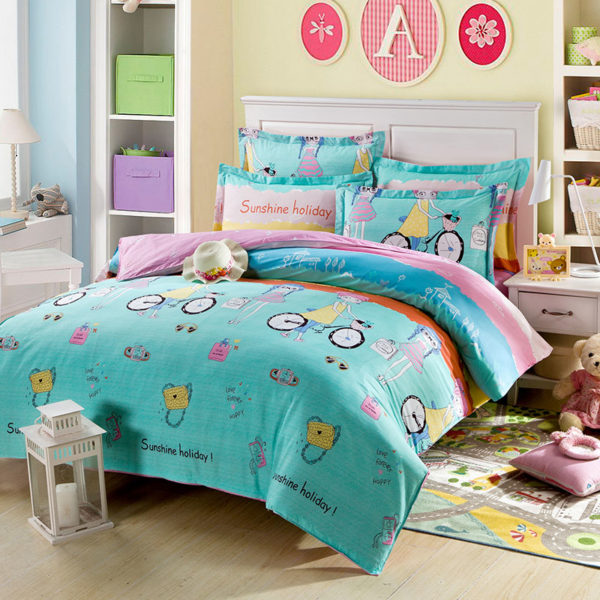 Cool Holiday Themed Cotton Bedding Set 1 600x600 - Cool Holiday Themed Cotton  Bedding Set