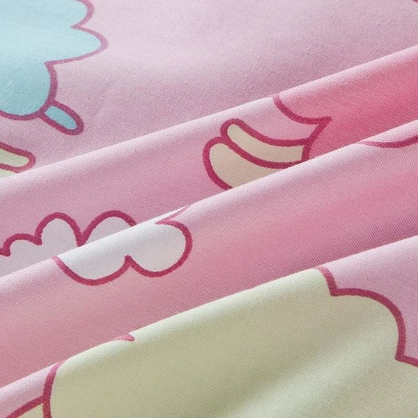 Cute Sheep Themed Cotton  Bedding Set